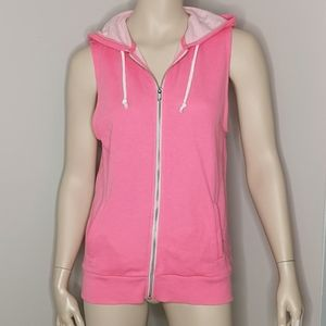 H&M Divided Sleeveless Zippered Hoodie Size 6